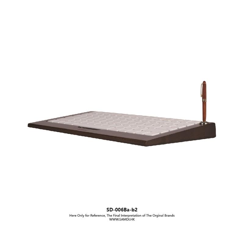 Samdi Original Black Bamboo Sample Desk Rack Wooden Imac Bluetooth Bracket Dock Keyboard Mount Stander