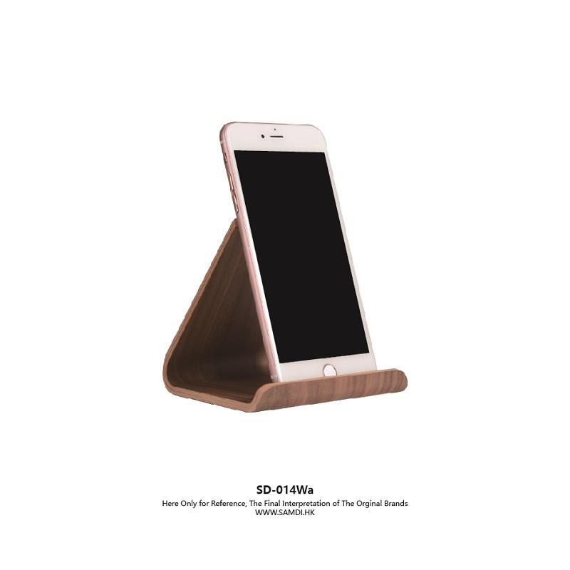 Samdi Original Sample Office Rack Wooden Black Walnut Universal L Iphone Tablet Stand Holder Showcase