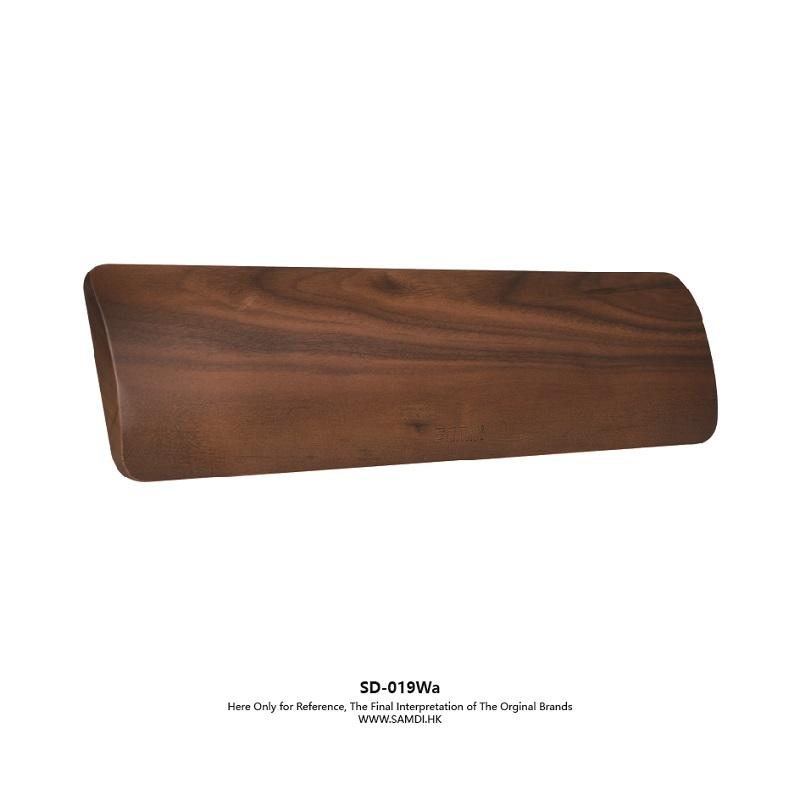 Samdi Wooden Ergonomic Pc Wrist Rest Pad For Full Size Keyboard Support Black Walnut